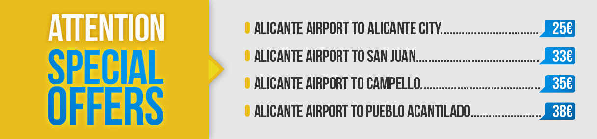 Offers transfer Alicante airport